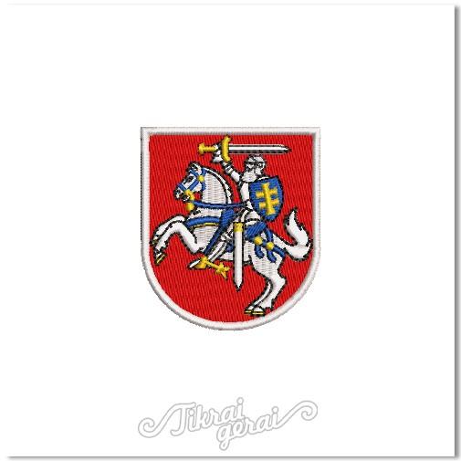 Antsiuvas Vytis herbas 6cm aukščio, v.2