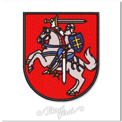 Antsiuvas Vytis herbas 10cm aukščio, v.1