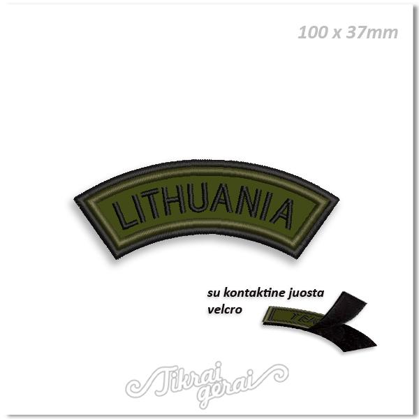 Antsiuvas LENKTAS LITHUANIA, su velcro