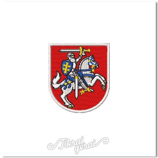 REVERSINIS antsiuvas Vytis herbas 6cm aukščio, v.2