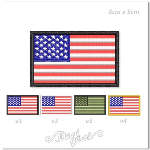 Antsiuvas JAV vėliava 8x5cm