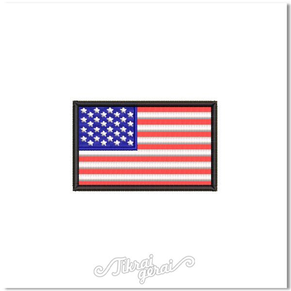 Antsiuvas JAV vėliava 8x5cm, v.1