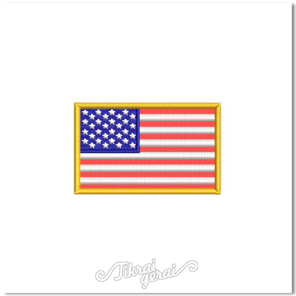 Antsiuvas JAV vėliava 8x5cm, v.10