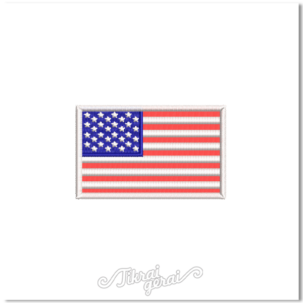 Antsiuvas JAV vėliava 8x5cm, v.2