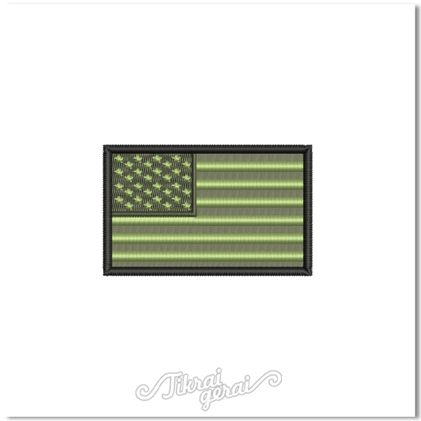 Antsiuvas JAV vėliava 8x5cm, v.3