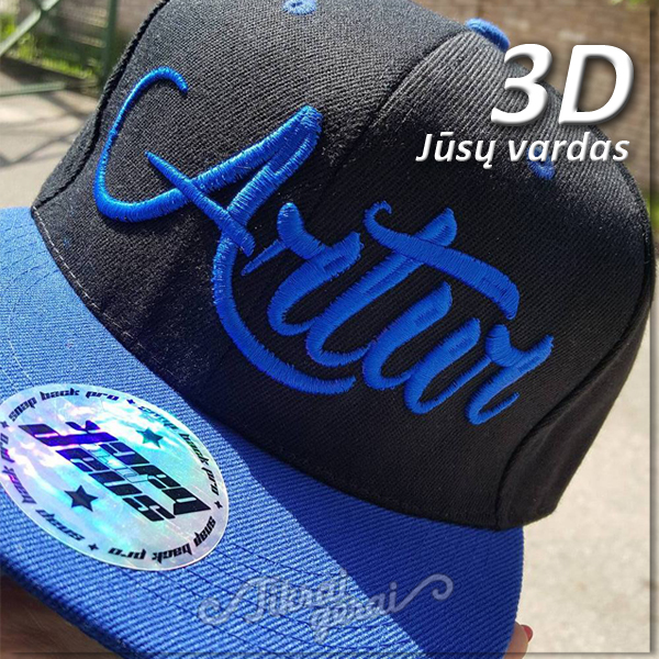 Kepurė Fullcap VARDINĖ 3D