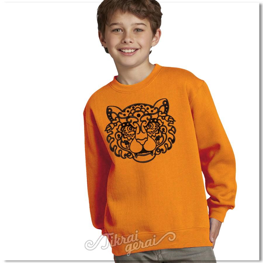 Džemperis Apelsininis tigras vaikams, v.1