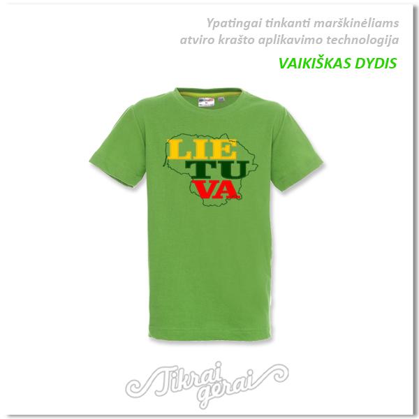 Marškinėliai vaikiški Lietuva aplikacija, v.1