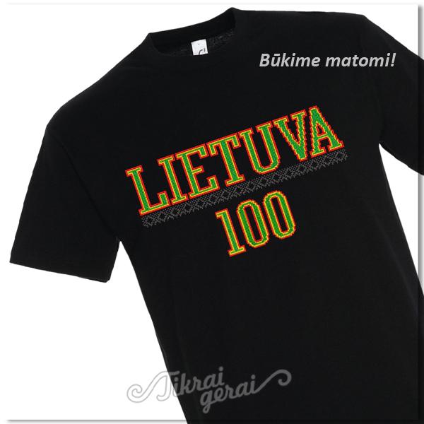 Marškinėliai Lietuva 100