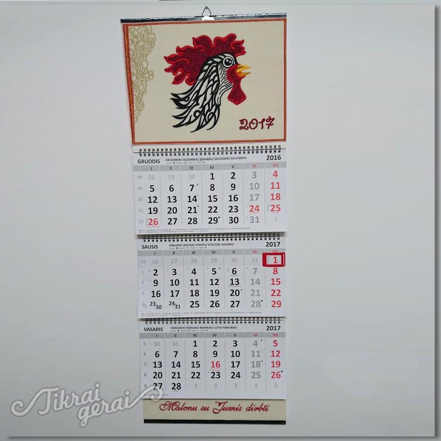 Kalendorius 2017. Gaidžio metai v.1