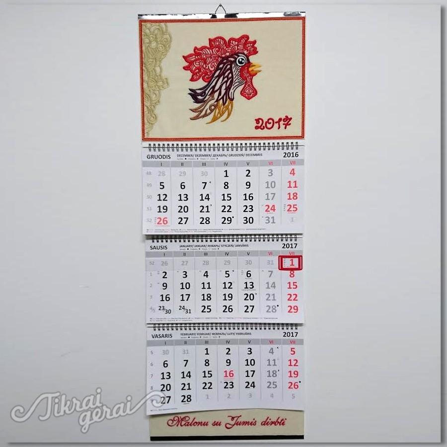 Kalendorius 2017. Gaidžio metai v.3